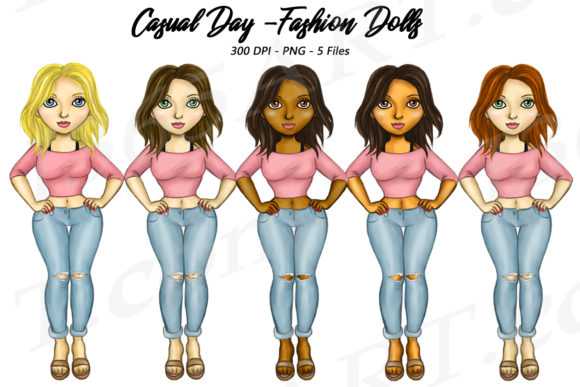 Casual Wear Fashion Girls Illustrations Graphic Illustrations By Deanna McRae