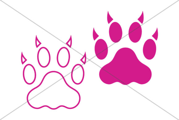 Print on Demand: Cat Claw Paw Print Clip Art Set Graphic Objects By Running With Foxes - Image 6