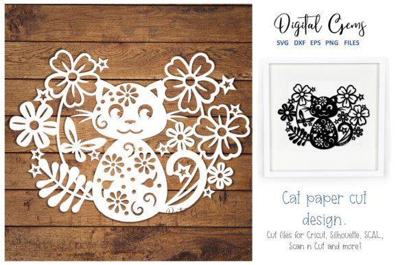 Cat Papercut Design Graphic By Digital Gems
