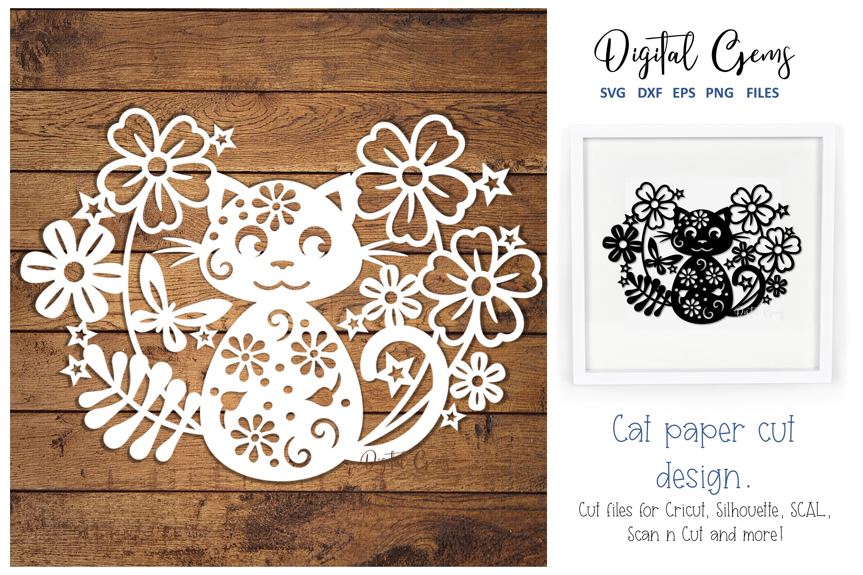 Cat Papercut Design Graphic By Digital Gems Creative Fabrica
