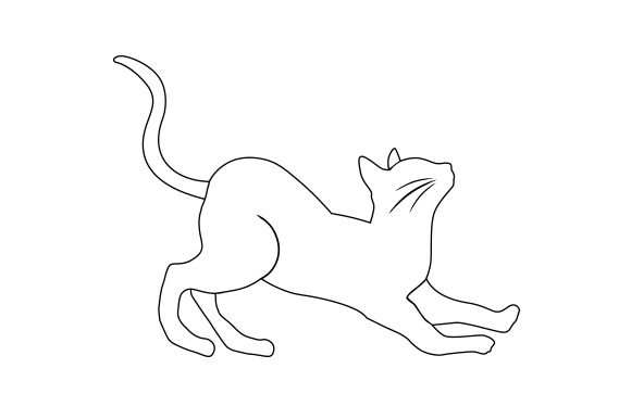 Download Free Cat Doing Yoga Poses Line Art Svg Cut File By Creative Fabrica for Cricut Explore, Silhouette and other cutting machines.