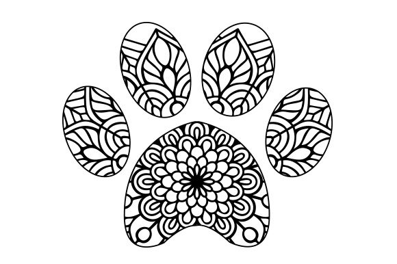 Download Free Cat Paw Print Mandala Svg Cut File By Creative Fabrica Crafts for Cricut Explore, Silhouette and other cutting machines.