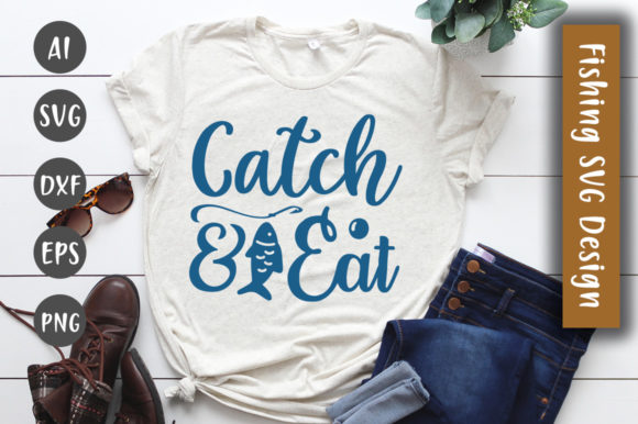 Print on Demand: Catch and Eat SVG Design Graphic Crafts By CreativeArt