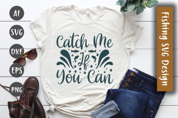 Print on Demand: Catch Me if You Can SVG Design Graphic Crafts By CreativeArt