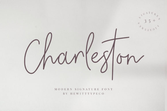 Print on Demand: Charleston Script & Handwritten Font By paulhewittype
