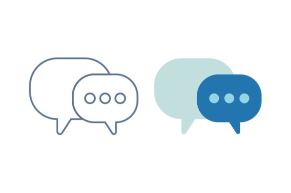 Chat Line/Color Icon Graphic By DonMarciano