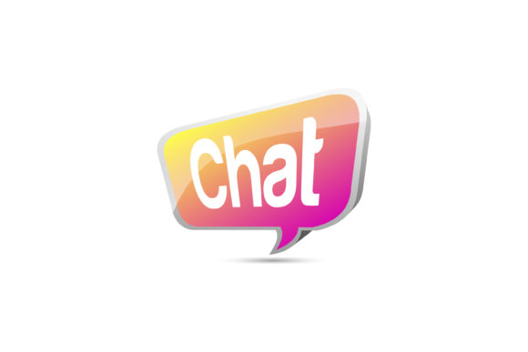 Download Free Chat Symbol Gradient Gradient Pink Yello Graphic By Noory for Cricut Explore, Silhouette and other cutting machines.