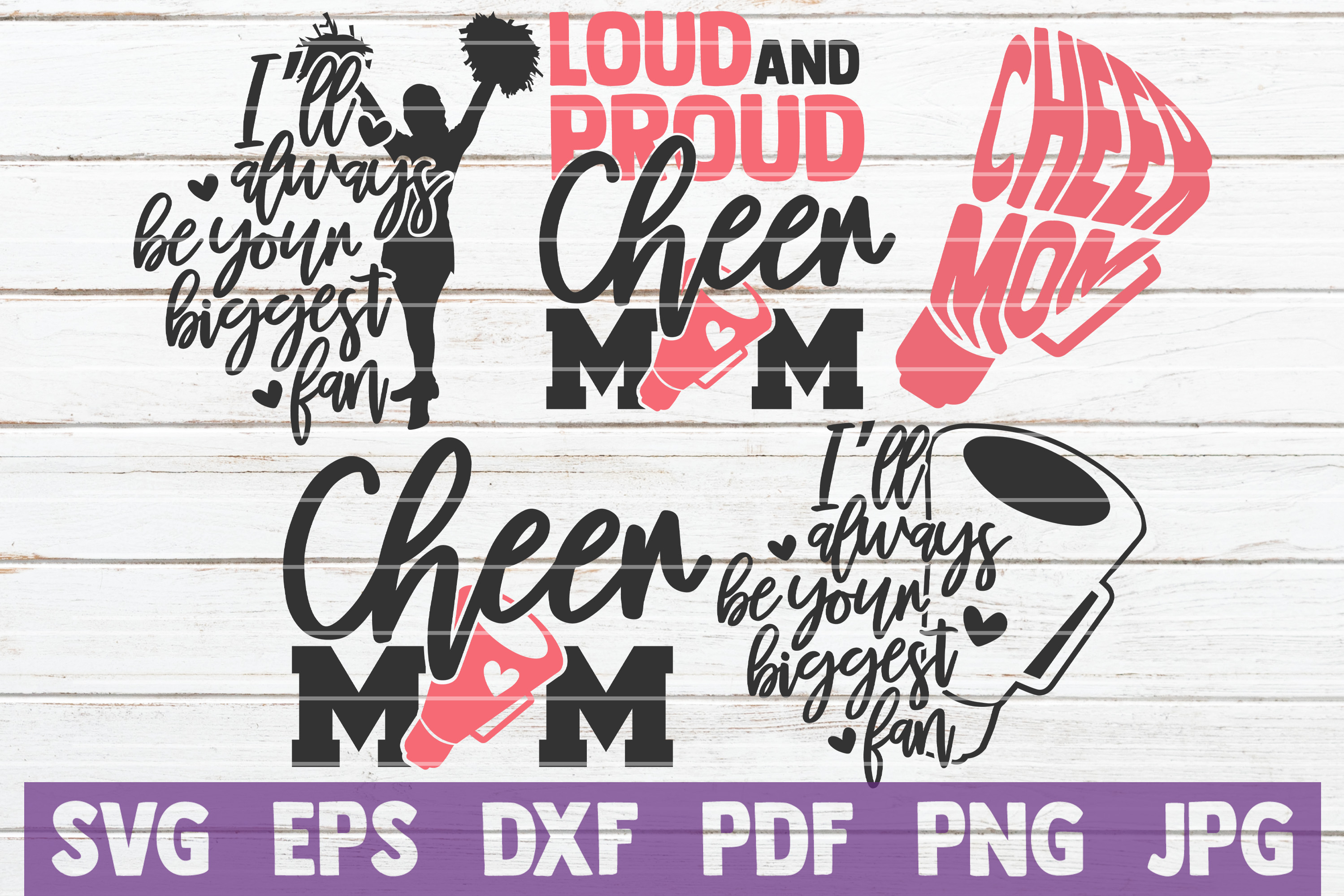 Download Free Cheer Mom Svg Bundle Cut Files Graphic By Mintymarshmallows for Cricut Explore, Silhouette and other cutting machines.