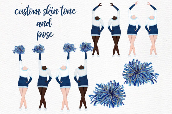Download Free Cheerleaders Girls Clipart Graphic By Lecoqdesign Creative Fabrica for Cricut Explore, Silhouette and other cutting machines.