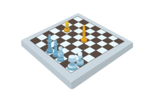 Chess Board with Pieces Craft Design By Creative Fabrica Crafts