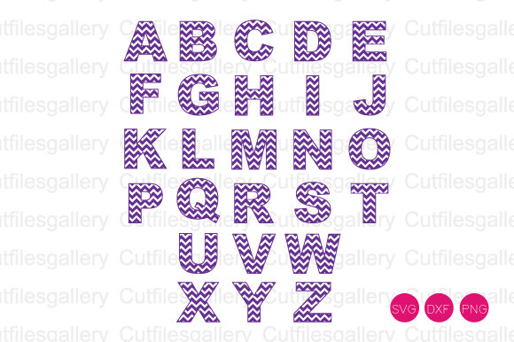 Download Free Chevron Alphabet Font Svg Graphic By Cutfilesgallery Creative for Cricut Explore, Silhouette and other cutting machines.