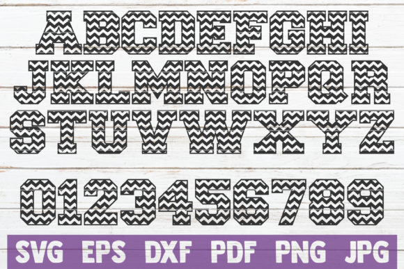 Download Free Chevron Alphabet And Numbers Svg Graphic By Mintymarshmallows SVG Cut Files