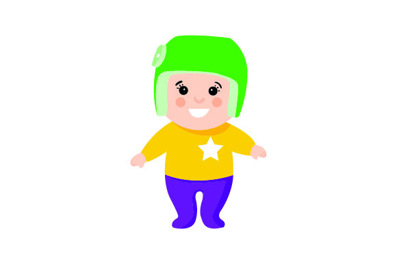 Child With Cranial Remolding Helmet Svg Cut File By Creative