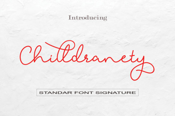 Print on Demand: Chilldranety Script & Handwritten Font By faisal_Alfaraby