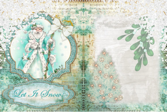 Christmas Backgrounds and Clipart Graphic By The Paper Princess Image 2