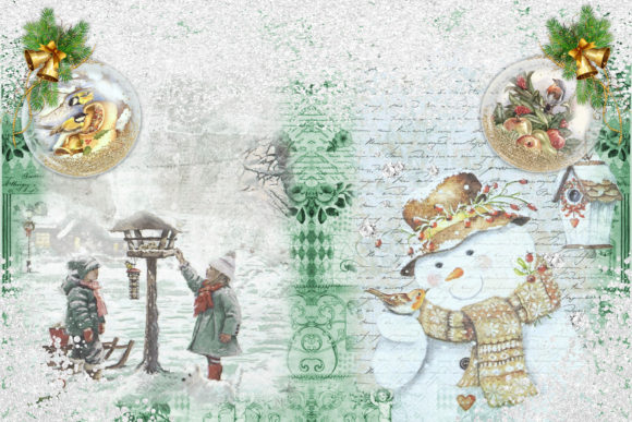Christmas Backgrounds and Clipart Graphic By The Paper Princess Image 4