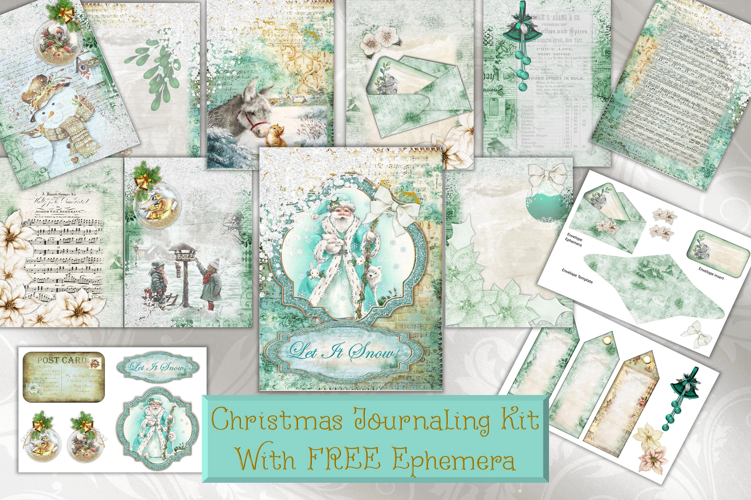 Download Free Christmas Backgrounds And Clipart Graphic By The Paper Princess for Cricut Explore, Silhouette and other cutting machines.