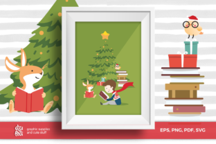 Christmas Card A6 & Vector Elements Graphic By duka