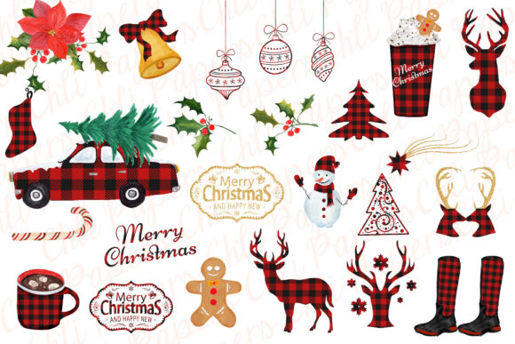 Download Free Christmas Clipart Graphic By Chilipapers Creative Fabrica for Cricut Explore, Silhouette and other cutting machines.