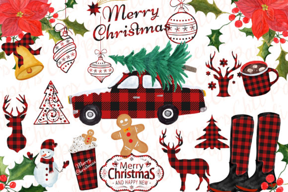Christmas Clipart Graphic Crafts By ChiliPapers