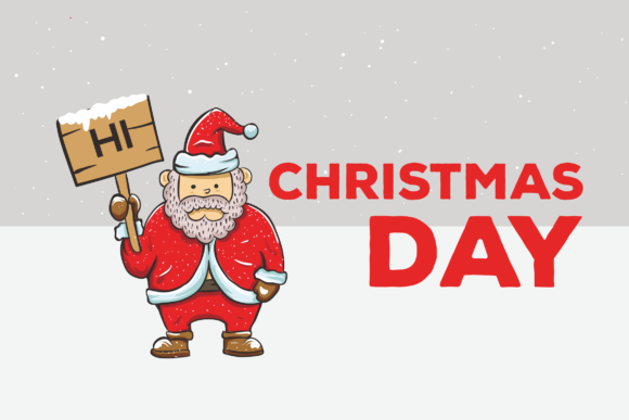 Print on Demand: Christmas Day Vector Illustration Graphic Illustrations By peterdraw
