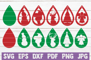 Christmas Earrings SVG Bundle Graphic By MintyMarshmallows