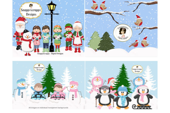 Christmas Fun Clipart Graphic Illustrations By Snappyscrappy
