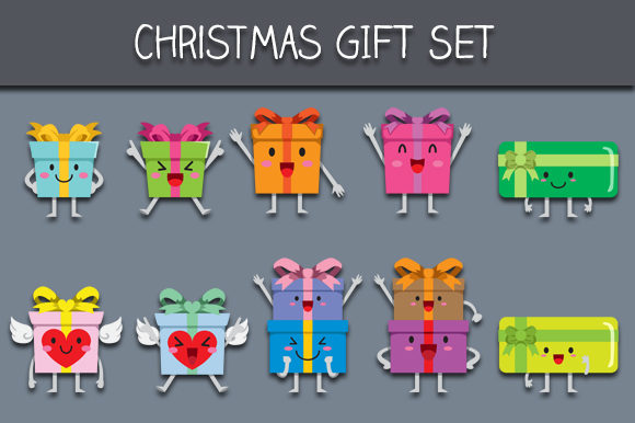 Download Free Christmas Gift Set Graphic By Bayu Baluwarta Creative Fabrica for Cricut Explore, Silhouette and other cutting machines.