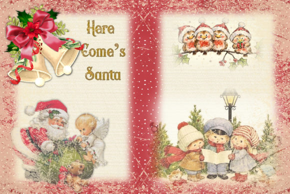 Print on Demand: Christmas Junk Journal Kit Free Clipart Graphic Crafts By The Paper Princess - Image 2