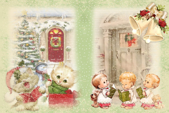 Print on Demand: Christmas Junk Journal Kit Free Clipart Graphic Crafts By The Paper Princess - Image 3