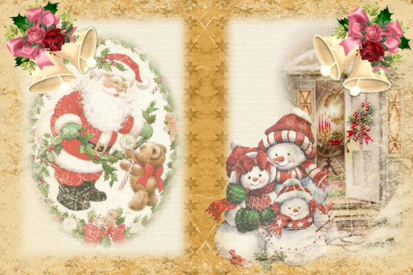 Print on Demand: Christmas Junk Journal Kit Free Clipart Graphic Crafts By The Paper Princess - Image 5
