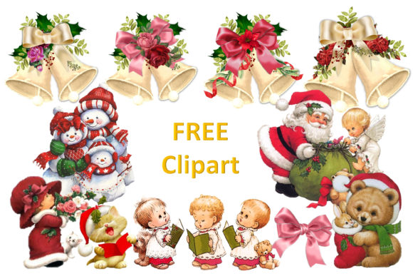 Print on Demand: Christmas Junk Journal Kit Free Clipart Graphic Crafts By The Paper Princess - Image 7