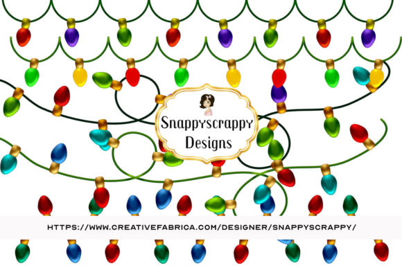 Download Free Christmas Lights Clipart Graphic By Snappyscrappy Creative Fabrica for Cricut Explore, Silhouette and other cutting machines.