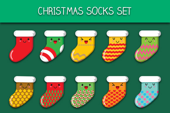 Download Free Christmas Socks Set Graphic By Bayu Baluwarta Creative Fabrica for Cricut Explore, Silhouette and other cutting machines.