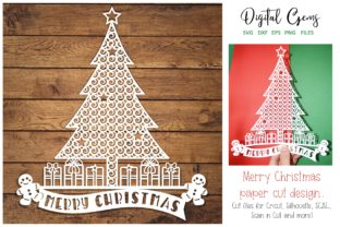 Download Free Christmas Tree Design Graphic By Digital Gems Creative Fabrica for Cricut Explore, Silhouette and other cutting machines.