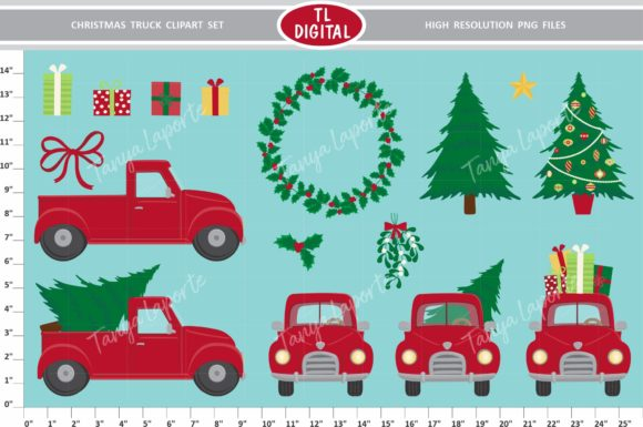 Download Free 2 Christmas Truck Designs Graphics for Cricut Explore, Silhouette and other cutting machines.