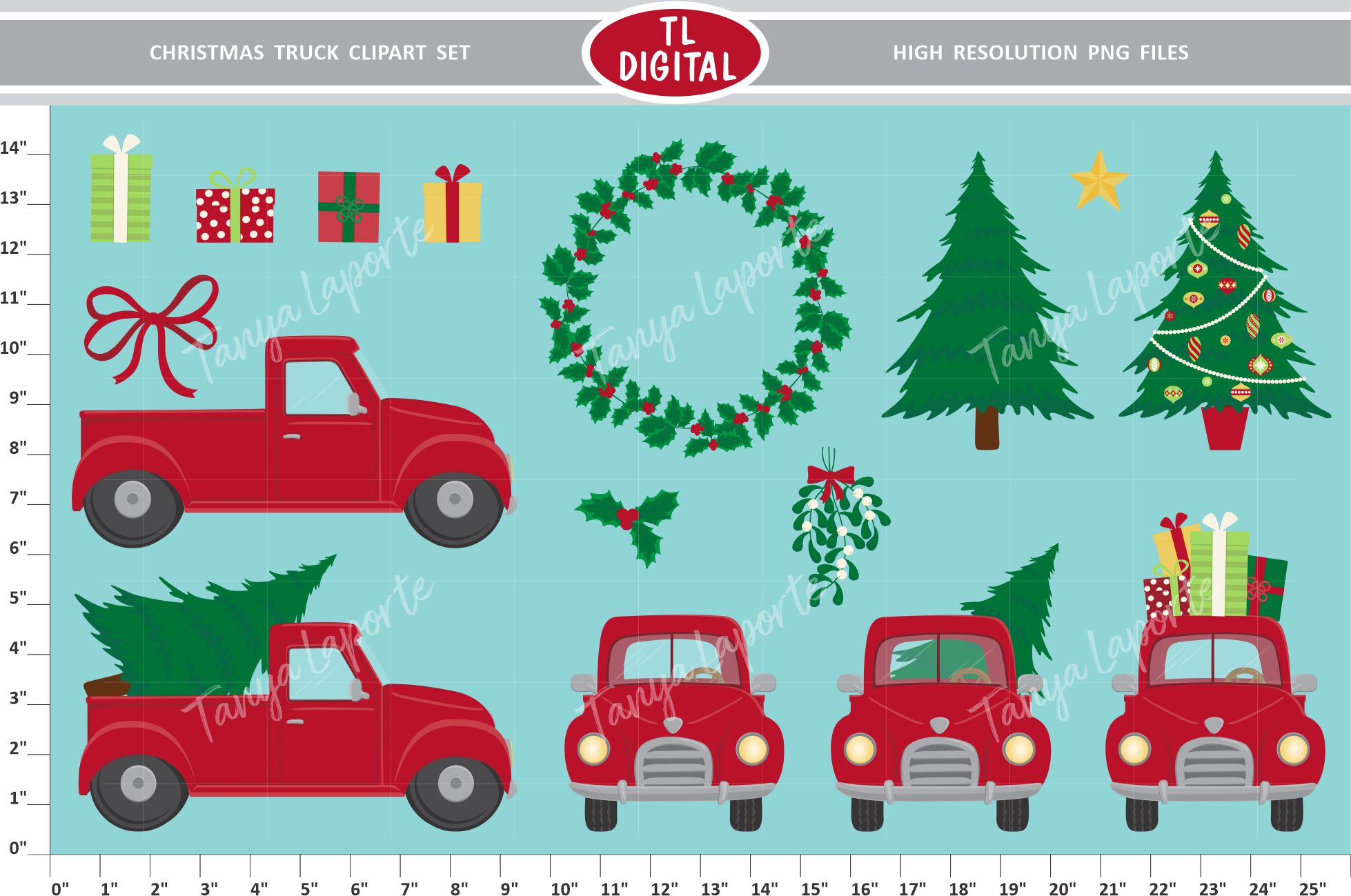 Download Free Christmas Truck Clipart Set Graphic By Tl Digital Creative Fabrica for Cricut Explore, Silhouette and other cutting machines.