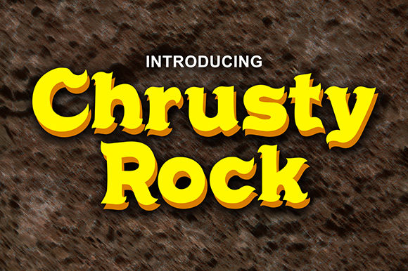 Print on Demand: Chrusty Rock Serif Font By Cove703