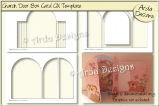 Download Free Church Door Shadow Box Card Cu Template Graphic By Arda Designs for Cricut Explore, Silhouette and other cutting machines.