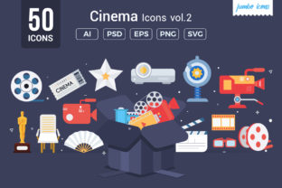 Cinema Vector Icons Graphic By jumboicons