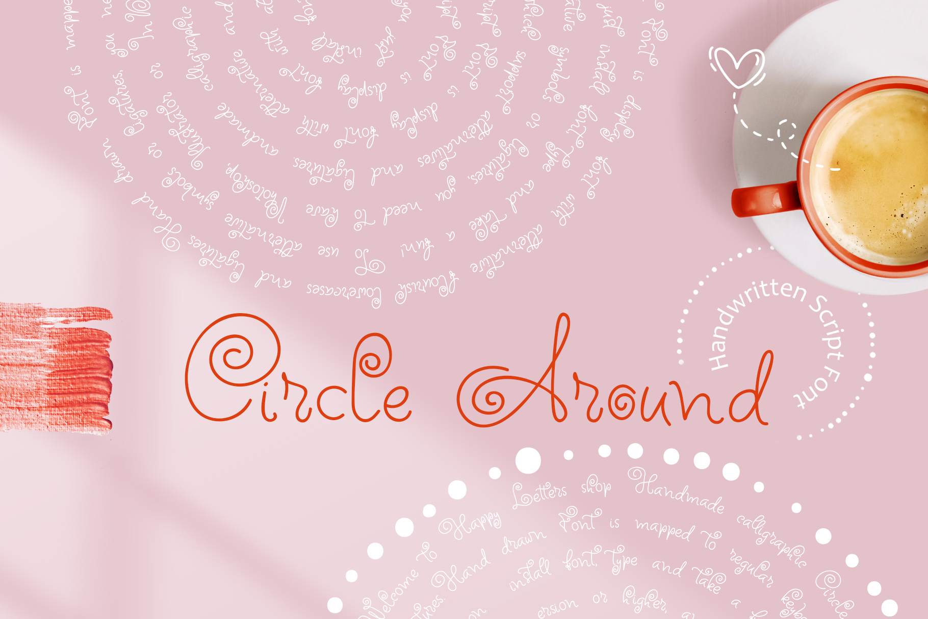 Download Free Circle Around Font By Happy Letters Creative Fabrica for Cricut Explore, Silhouette and other cutting machines.