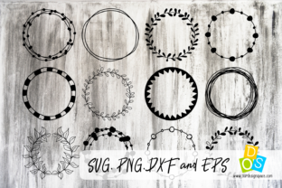 Download Free Circle Frames Graphic By Our Design Space Creative Fabrica for Cricut Explore, Silhouette and other cutting machines.