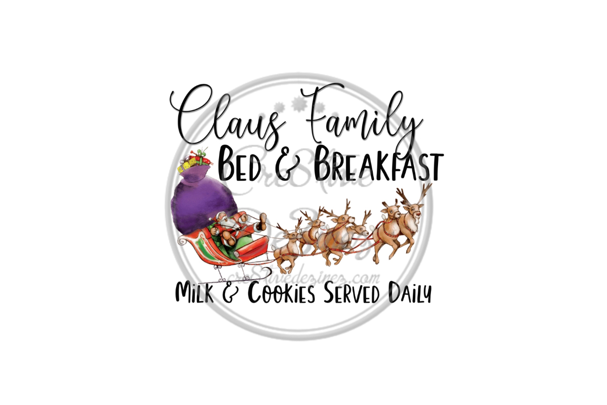 Download Free Claus Family Bed Breakfast Graphic By Cre8tivedezinez for Cricut Explore, Silhouette and other cutting machines.