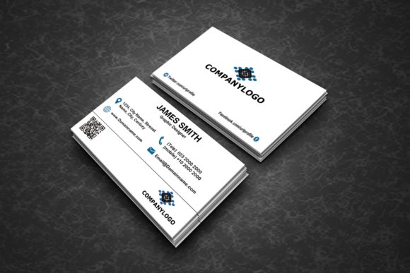 Clean Business Cards Graphic By polahdesign