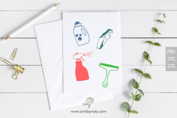 Print on Demand: Cleaning Hand-Drawn Vector Objects Graphic Illustrations By artsbynaty - Image 2