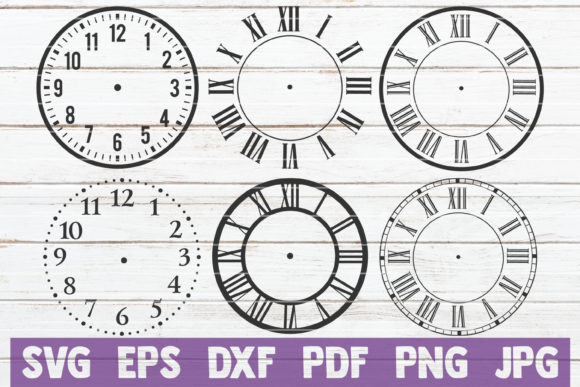 Clock Face Bundle | Cut Files Gráfico Crafts Por MintyMarshmallows