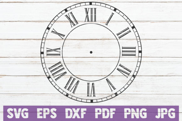 Clock Face SVG Bundle | SVG Cut Files Graphic Graphic Templates By MintyMarshmallows - Image 7