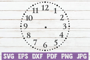Download Free Clock Face Svg Cut File Grafik Von Mintymarshmallows Creative for Cricut Explore, Silhouette and other cutting machines.