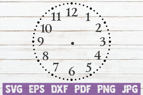 Clock Face Cut File Graphic