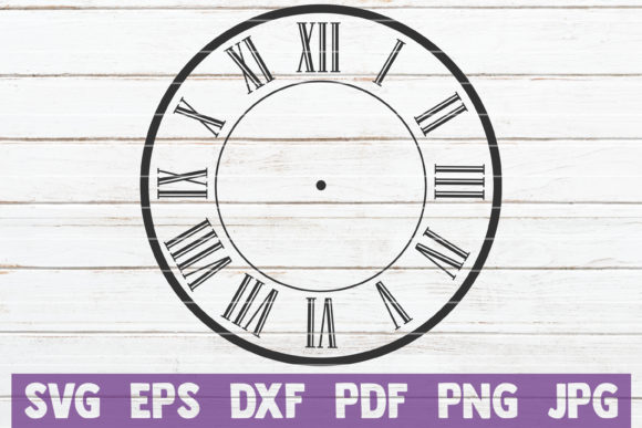 Download Free Clock Face Cut File Graphic By Mintymarshmallows Creative Fabrica SVG Cut Files